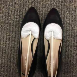 💯 NEW LEATHER Cole Haan Heel, size:7.5,65mm height
