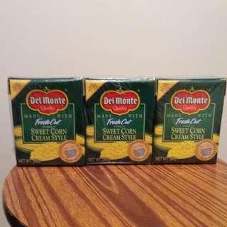 Del Monte Sweet Corn Cream Style (3盒)