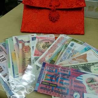 52個國家全新鈔票