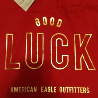 American Eagle 紅色環保袋