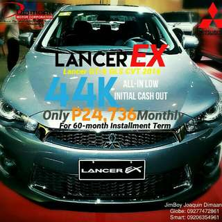 Mitsubishi Lancer EX LOW DOWN Promo SURE Approval NO Minimum Requirements DIAL NOW! 09277472861 or 09206354961