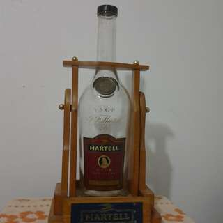 MARTELL BOTTLE with bracker. 3L.