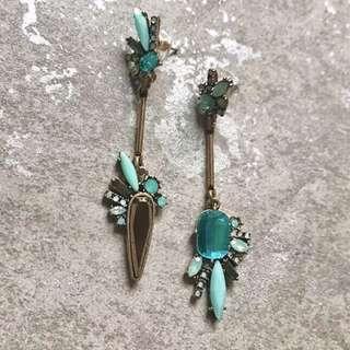 復古系列 土耳其藍 垂釣耳環