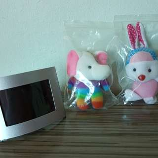 Photo frame & soft toy