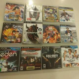 PS3 Games Collection @ $10 ea