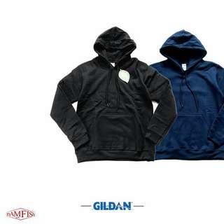 🚚 清倉價<全新正品>美國【GILDAN】88500重磅刷毛素面連帽T恤 兩色 附吊牌 M號 黑/深藍