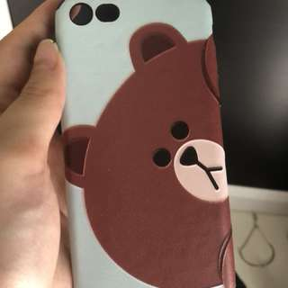 iPhone 8case- line brown