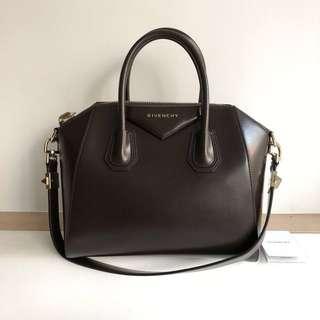 Givenchy Small Antigona Tote in Dark Brown
