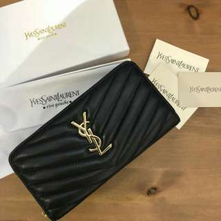 Yves Saint Laurent Zippy Leather Wallet