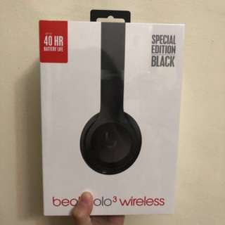 Brand New Unopened Limited Edition Beats Solo 3 Wireless (Matte Black)