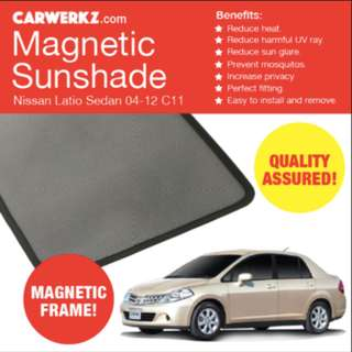 Nissan Latio Magnetic Sun Visor Shades for the windows