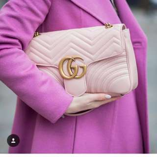 Gucci marmont 粉色斜咩袋 Handbags crossbody 22 cm
