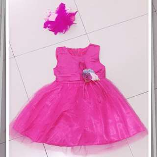 QQ Kids Girls Sleeveless Dress Flower Princess Dress