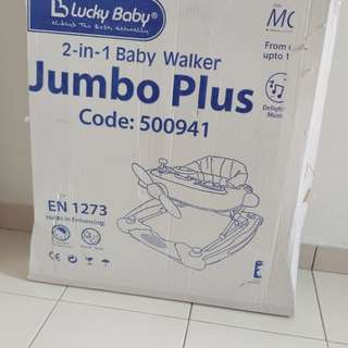 lucky baby 2 in 1 baby walker jumbo plus