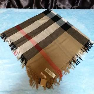Burberry check merino wool shawl x scarf