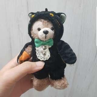 日本迪士尼海洋限定正品Duffy達菲熊2014年萬聖節限定款玩偶吊飾