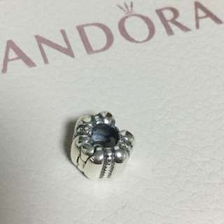 包郵 全新 Pandora 銀點 固定夾 定位珠 Charm 珠 吊飾 Decorative Dot and Ridges Clip