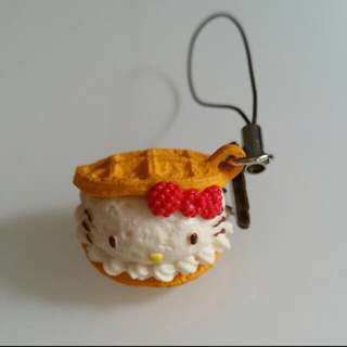 hello kitty waffle keychain