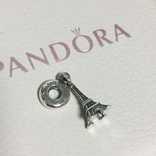 包郵 全新 Pandora 巴黎 艾菲爾鐵塔 Charm 珠 吊飾 Paris Eiffel Tower
