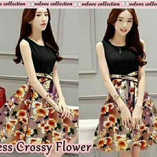 Dress crossy flower