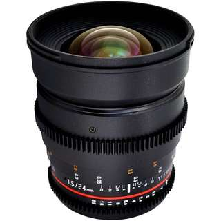 Samyang 24mm T1.5 VDSLRII Cine Lens for Sony E-Mount