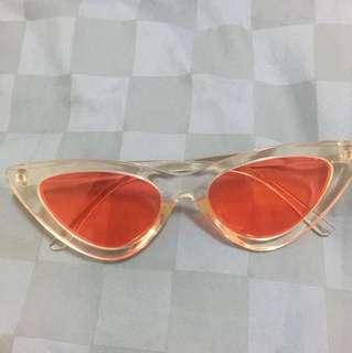 Kacamata sunglasses kucing eye cat medium red
