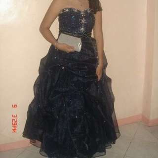 Navy Blue Ball Gown for Rent