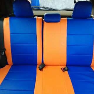 Sarung jok mobil yaris 2016typeG bhn mbteck kombinasi