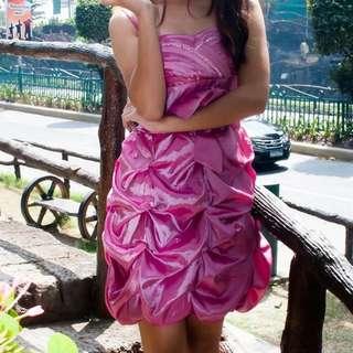 Pink Ribbon Cocktail Dress
