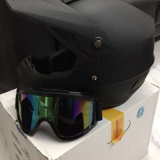 Full matte black helmet