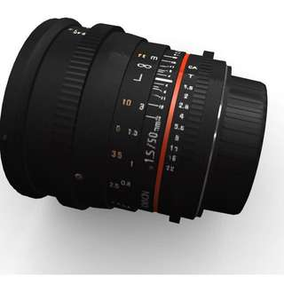 Samyang 50mm T1.5 AS UMC Cine DS Lens for Canon EF Mount