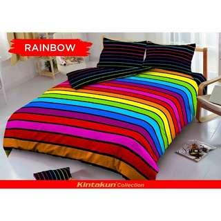 Seprei king rainbow minimalis