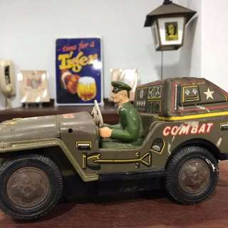Vintage Army Tin Toy Car - Made in Japan (Display)