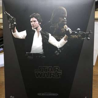 Hot Toys. Star Wars. Han Solo and Chewbacca Set (with bonus accessories)