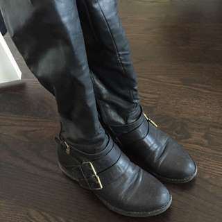 Tall Black Boots size 9