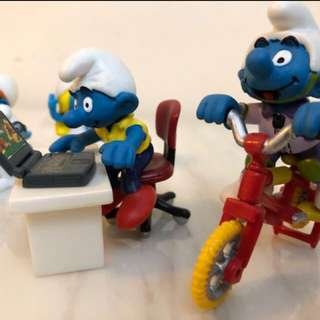 SCHLEICH Smurf Germany Peyo, 1997 and 2000 various - $70 each