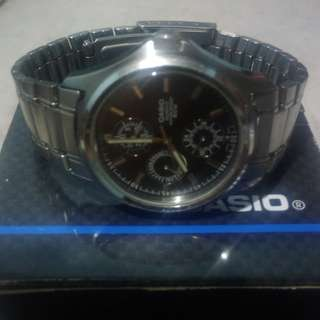 Casio Enticer Stainless Steel Watch