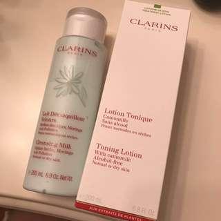 Clarins Cleansing Milk & Tonique Lotion
