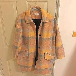 韓國oversize長版外套