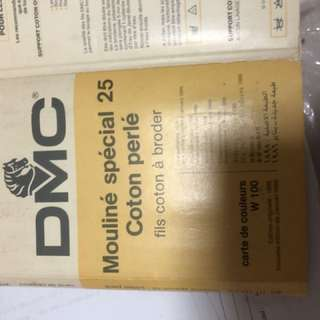 DMC Colour chart not avail in market. By mail