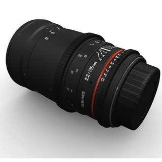 Samyang 135mm T2.2 AS UMC VDSLR II Lens for Sony E-Mount