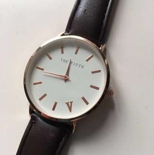 Brown and rose gold The Fifth watch