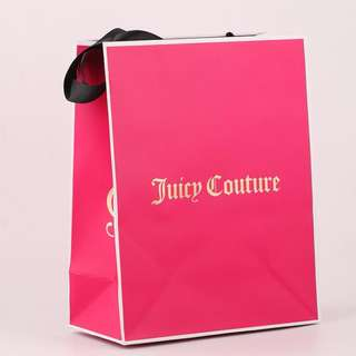 Juicy Couture  gift bag pink rose red handbag paper bag