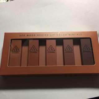 BNIB authentic  3CE Mini Lipstick Set
