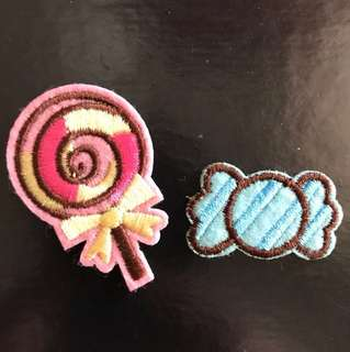 Bn sweet/lollipop iron on patch