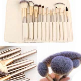 Korean 12 pcs Make Up Brush With pouch