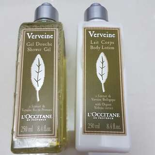 L'occitane  250ml - Shower gel & lotion ( to be sold separately at $24 each)