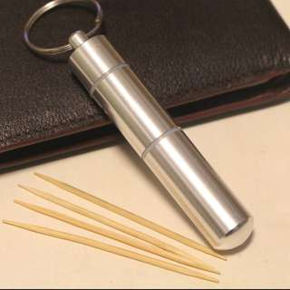 Portable toothpick holder