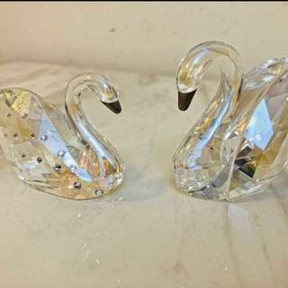 100% Authentic Swarovski - Love Swans- Great Gift Idea