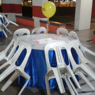 Mini Event Rental Chair , Table & Skirting